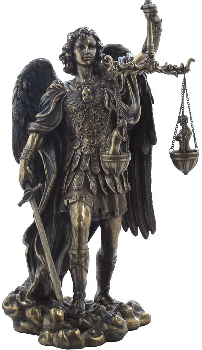 Saint Michael Weighing Souls Sculpture Stu Home