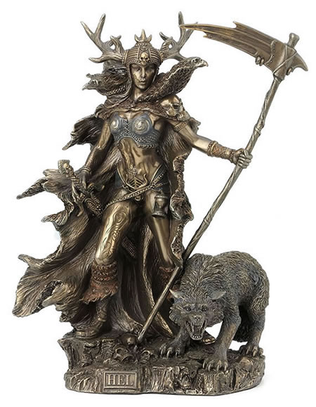 Hel - Goddess Of The Norse Underworld Statue