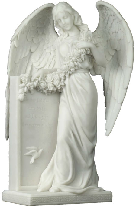 Angel With Flowers Sculpture