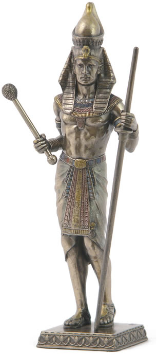 Egyptian Pharaoh with Scepter and Staff