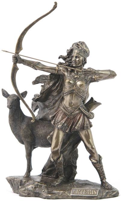 Artemis Greek Goddess Of The Hunt Sculpture Greek Roman