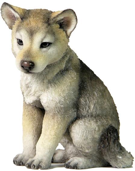 Wolf Cub Figurine Stu Home Aawu75700ab Allsculptures Com