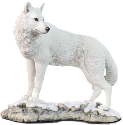 White Wolf Sculpture Stu Home Aawu75746aa