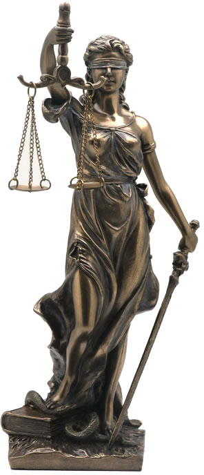 Large 48 Inch Lady Justice Scales of Justice La Justitia