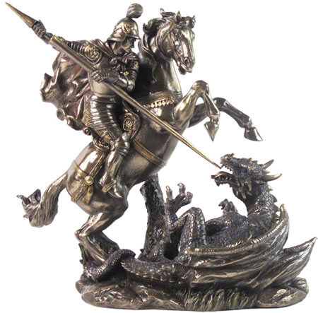St. George Slaying Dragon Sculpture