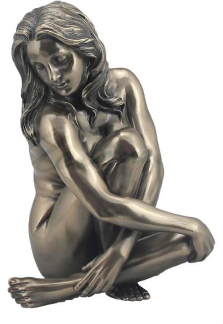 Erotic Bronze Sculpture Nude Female on marble base