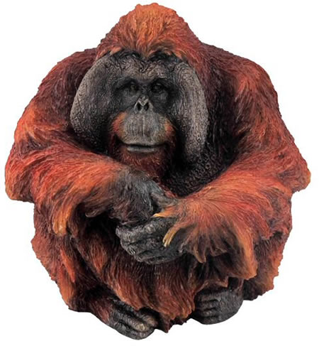 Male Orangutan, Large Figurine
