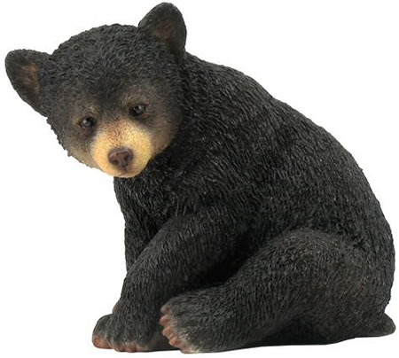 Black Bear Cub Sitting Figurine Stu Home Aawu76191aa
