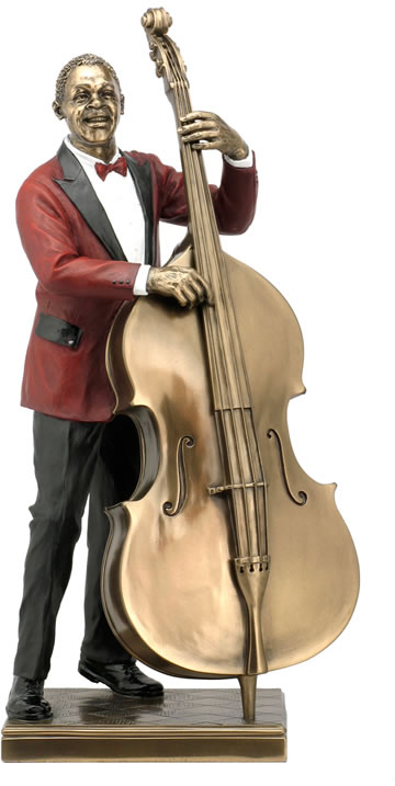 Double Bass Player Statue
