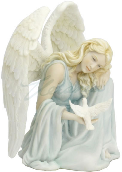 Angel Embracing Dove Statue