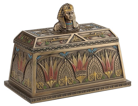 Egyptian Pharaoh Trinket Box