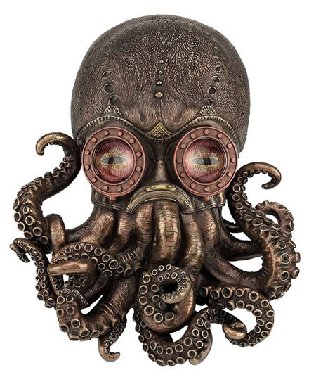 Steampunk Octopus- Wall Plaque