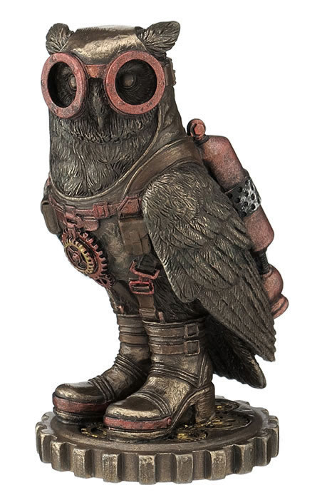 Steampunk Owl With Goggles And Jetpack