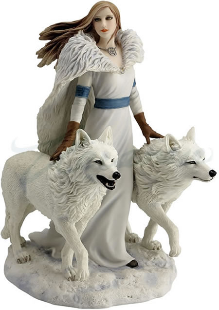 Winter Guardians Statue by Anne Stokes