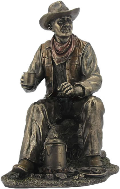 Coffee Break Cowboy Statue Stu Home Aawu76730a4