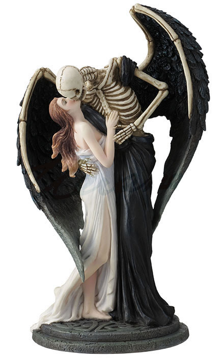 The Kiss Of Death Skeleton Statue- Color