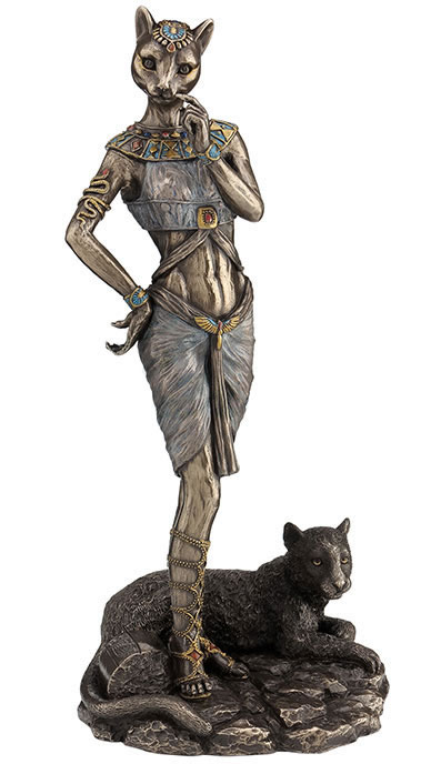 Bastet With Panther Statue