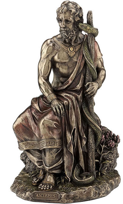Asclepius - Greek God Of Medicine Statue