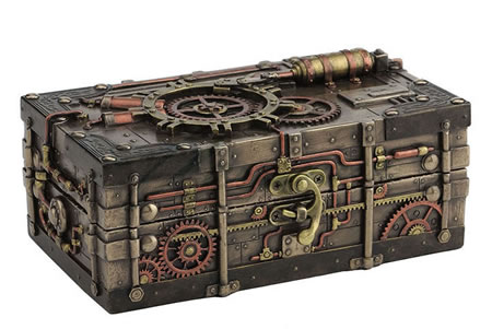 Steampunk Jewelry Box with Lock
