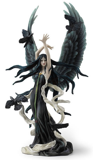 Faery Of Ravens Statue by Nene Thomas