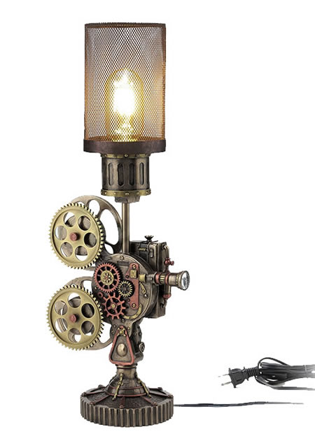 Steampunk Projector Mesh Lamp
