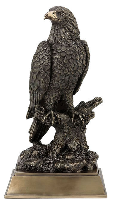 Bald Eagle Perching On Tree Branch Sculpture