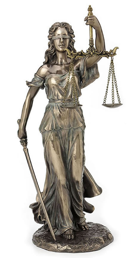 Lady Justice Holding Sword And Scale Statue