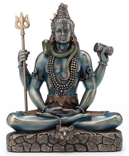 Sitting Shiva The Destroyer Statue