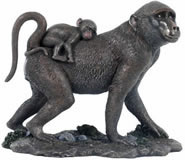 Baboon Monkey Sculpture