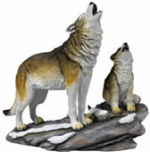 Call of the Wild- Wolves Sculpture