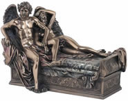 Cupid and Psyche Reclining Statue