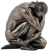 Bronze Study of Form Male Nude Sculpture- Small