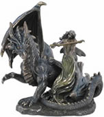 Dragon and Fairy Sculpture