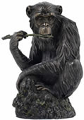 Lone Chimpanzee Sculpture