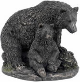Bear and Cub Sculpture