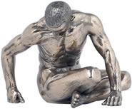 Bronze Study of Man Male Nude Sculpture- Small