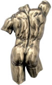 Male Nude Back/Torso Wall Plaque