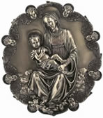 Theotokos And Baby Jesus Wall Plaque