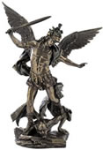St. Michael With Helmet Statue- Slaying The Demon