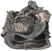 Mermaid and Conch Shell Trinket Box