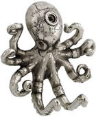 Steampunk Octopus Wall Hook (Antique Nickel)