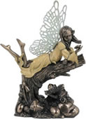 Little Fairy on Branch Figurine