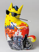Big City Cat Yellow Zatti Statue
