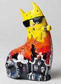 Big City Cat Yellow Bruno Statue