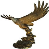 Eagle With Fish Statue