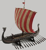 Viking Ship Statue