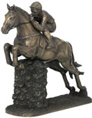 Jumping Horse Number 3 and Jockey Statue