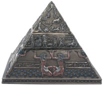 Egyptian Pyramid Double Tier Trinket Box