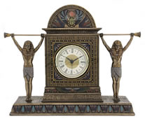 Egyptian Dual Statue Clock