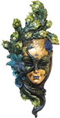 Peacock Mask Wall Plaque (Multicolor)